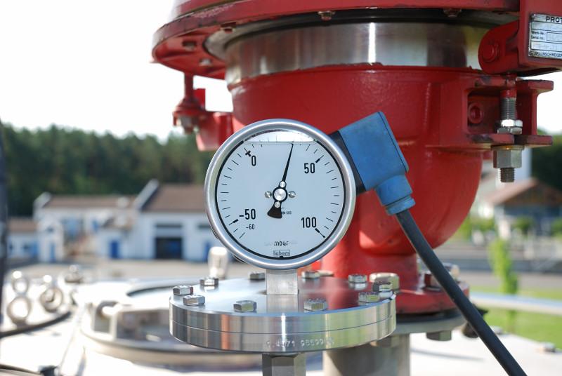 Gasdruckmanometer - Faulturm