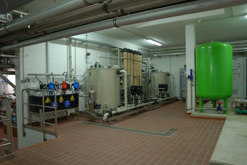Microfiltrationsanlage zur Aufbereitung des Ablaufwassers zu Brauchwasser