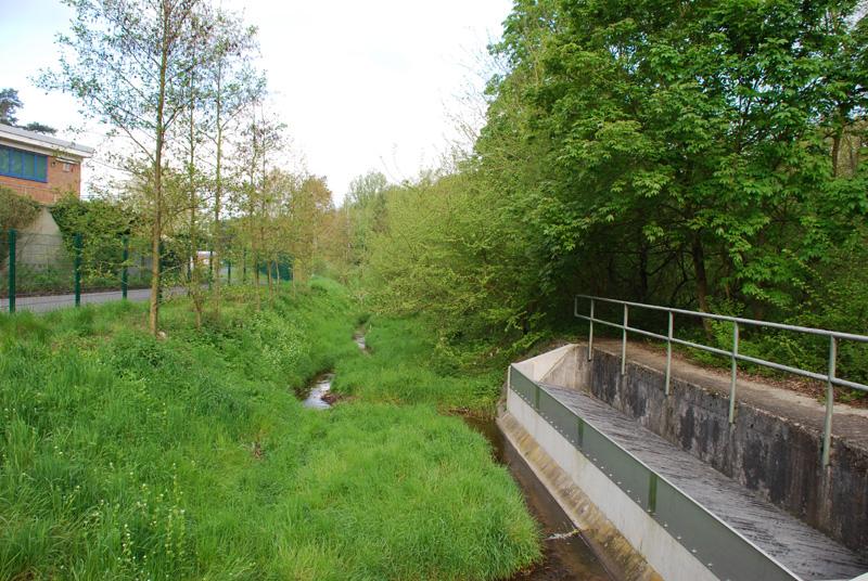 Regenabschlagsbauwerk vor der Vorbehandlungsanlge in Egelsbach