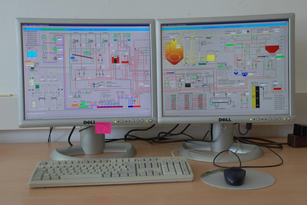 Prozessleitsystem der Kläranlage